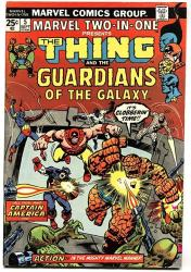 Marvel Two-in-one 5 1974-CAPTAIN America- Thing- Guardians Of The Galaxy Vf