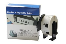 IDIK-11221 Replacement Labels Compatible With BrOther DK-1221 Square Labels 23MM X 23MM X 1000PCS ROLL Packed In Individual Printed Retail Box With Permanent Cartridge