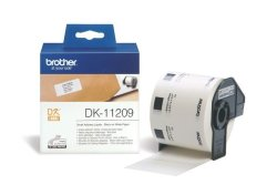 Brother DK-11209 Small Address Labels 29MM X 62MM Roll - Black On White Paper
