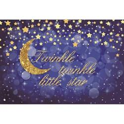 Yeele 10X8FT Vinyl Twinkle Twinkle Little Star Backdrop For Photography Bokeh Shining Background Baby Shower Birthday Party Decoration Banner Photo Bo