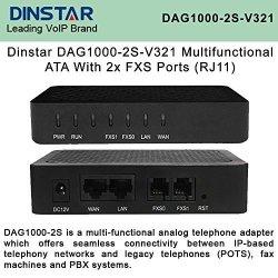 Dinstar DAG1000-2S-V321 Multi-functional 2XFXS Ports RJ11