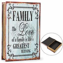 Family Book Safe Box With Key Lock 13 X 8.5 In