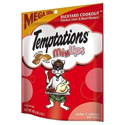 Whiskas Temptations Mixups Treats For Cats Backyard Cookout Flavor 6.3 Ounces Pack Of 10