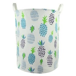 Orino Pineapple Storage Baskets 19 X 16.5 Inches Laundry Hamper Blue