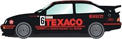 """Hornby Scalextric Ford Sierra RS500 """"texaco"""" British Touring Championship 1988 Brands Hatch Slot Car 1:32 Scale"""