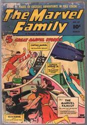 Marvel Family 57 1951-FAWCETT-CAPT Marvel-mary Marvel-capt Marvel Jr-fr