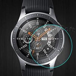 Samsung Galaxy Watch 46MM Screen Protector High Definition Premium 2.5D Rounded Edges Scratch Resistant Anti-shatter Tempered Glass Screen Protector