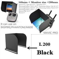 PGYTECH L200 Black Pad Monitor Hood Sunshade Sun Fpv For Dji Mavic PHANTOM4 Pro Osmo Inspire Phantom M600
