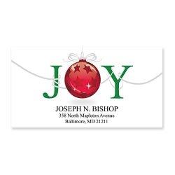 Artistic Labels Christmas Joy Sheeted Holiday Address Labels - 48 Address Labels - 2 Inches High X 2 1 4 Inches Long