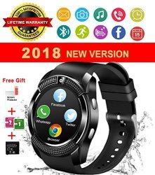 IFUNDA Bluetooth Smart Watch With Camera Waterproof Smartwatch Touch Screen Phone Unlocked Cell Phone Watch Smart Wrist Watch Smart Watches For Android Phones Samsung Ios