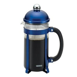 Meyer Bonjour Coffee 8-DEMITASSE Cup 33.8 Oz Maximus French Press Blue
