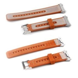 22MM Leather Silicone Watchband Replacement For Fitbit Blaze