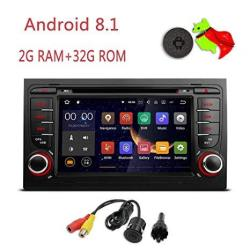 Mcwauto Android 8.1 Car Gps Stereo Compatible Audi A4 S4 RS4 2002 2003 2004 2005 2006 2007 2008 Quad Core Bt Radio Rds USB