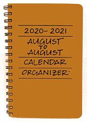 August 2020-2021 To Calendar Organizer - Butter Yellow