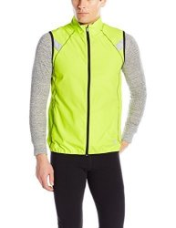 Asics Mens Athletic Asics Men's Shosha Running Vest Neon Lime black XL