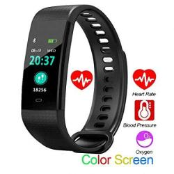 Xsh Smart Bracelet Pedometer Smart Bracelet Blood Pressure Heart Rate Monitor Fitness Bracelet Activity Tracker Monitoring Colorful Screen For Android