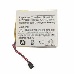 MPF Products 280MAH PP332727 Battery Replacement Compatible With Tomtom Spark 3 Gps Activity Tracker And Fitness Watch
