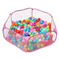 Jacone Portable Cute Hexagon Playpen Children Ball Pit Indoor And Outdoor Easy Folding Ball Play Pool Kids Toy Play Tent With Ca