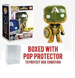 USAD Funko Pop Games: Marvel Contest Of Champions Civil Warrior 299 Glow In The Dark Exclusive Collectible Vinyl Figure Bundled With Pop Box Protector Case
