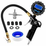 Nilight 50026R Digital Tire Inflator With Pressure Gauge 250 Psi Air Chuck And Compressor Accessories Heavy Duty With Rubber Hose And Quick Connect Coupler