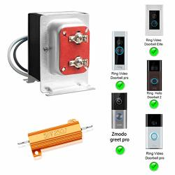 FCHO Doorbell Transformer 16V 30VA Hardwired Door Chime Transformer & 50W 25 Ohm Resistor Compatible With Ring Video Pro Zmodo Smart Greet Wifi Skybell Doorbell