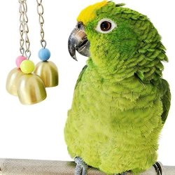 Loveone Parrot Bell Toy Bird Cage Toys For African Greys cockatoo scarlet Macaw nautiloids