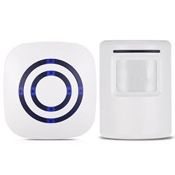 Ruick Wireless Driveway Alert Entry Alert Home Security System Alarm Visitor Door Bell Chime Infrared Motion Sensor Alarm With 38 Chime Tunes - LED