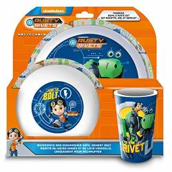 Rusty Rivets 3 Piece Dinner Set One Size Multicolored