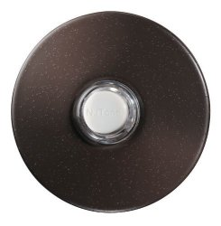 Broan-NuTone Nutone PB41LBR Wired Lighted Round Stucco Door Chime Push Button Oil-rubbed Bronze