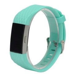 Men's Silicone Strap For Fitbit Charge 2 - Frost Blue