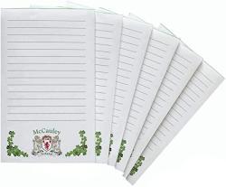USA Mccauley Irish Coat Of Arms Notepads - Set Of 6