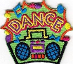 "Sl Dance"" Iron On Embroidered Patch - Dancing - Ballroom - Modern - Jazz"