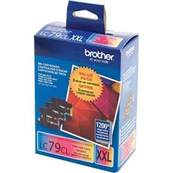 Brother Printer LC793PKS 3 Pack- 1 Each LC79C LC79M LC79Y Ink - Retail Packaging