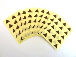 Minilabel 150 Labels 10MM Triangle Colour Code Stickers Dark Brown