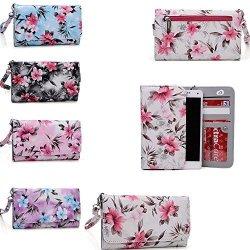 Kroo Cream Cell Phone Wallet Phone Case Universal Design Fits: Acer Liquid Z521