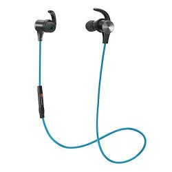0e74fc1ff5b TaoTronics Bluetooth Headphones Wireless 4.1 Magnetic Earbuds Aptx Stereo  Earphones IPX5 Splash Proof Secure Fit For Sports With Built In MIC TT-BH07  Blue