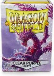 Clear Purple Matte Standard Size
