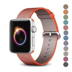 Pantheon Woven Nylon Replacement Band For The Apple Watch By Womens Or Mens Strap Fits The 38MM Or 42MM For Apple Iwatch 1 2