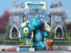 """Hot Toys Movie Masterpiece Vinyl """"monsters University"""" Mike & Sally & Archie Deluxe Edition Japan Import"""
