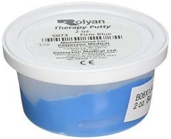 Sammons Preston Therapy Putty For Physical Therapeutic Hand Exercises Flexible Putty For Finger And Hand Recovery And Rehabilitation Strength Training Occupational Therapy 2 Ounce Firm Blue