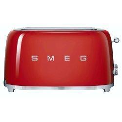 Smeg 50S Retro Style 4 Slice Toaster in Red