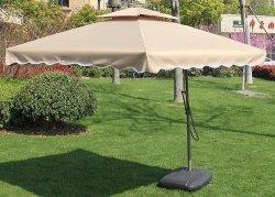 Cantilever Garden Umbrella - Square - Brown