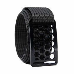 38 Inch Black Honeycomb Belt Buckle W black Strap