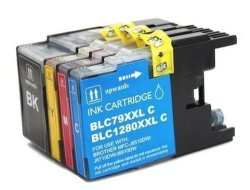 Axiom 4PACK Remanufactured LC71 LC75 Black And Color Compatible Ink Cartridge For Brother MFC-J430W Printer Bk Cmy