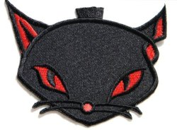 Kitty Cat Punk Rock Retro Hippie Lady Rider Biker Tatoo Patch Sew Iron On Embroidered Sign Badge Costume Clothing