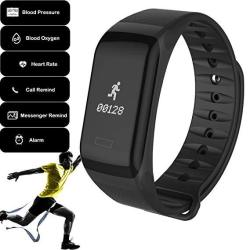 Fitness Tracker Activity Tracker Smart Bracelet Sports Watch Heart Rate And Blood Pressure Monitor Us Stock Black