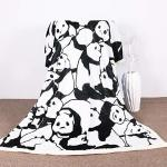 Youhao Sleepwish Panda Plush Blanket Cartoon Animal Throw Blanket Cute Panda Bears Graphic Pattern Kids Blankets Fleece 50X60 In