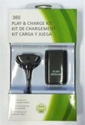 2-IN-1 Wireless Controller Battery 4800MAH Pack For Xbox 360 Black