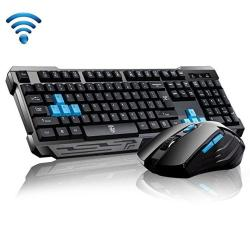 62ec0a2abcb Keyboard Mouse Combos Soke-six Waterproof Multimedia 2.4GHZ Wireless Gaming  With USB Cordless Ergonomic Mouse Dpi Control For De