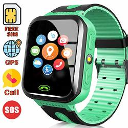 SMART WATCH For Kids Sim Card Include Gps Tracker Smartwatch Phone 3-12 Years Boys Girls Birthday Gift Learning Toys Toddlers Touch Electrionc Game Wrist